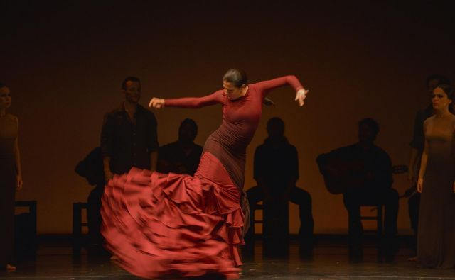 Koreografije in ples kraljice flamenka začarajo gledalca. Foto arhiv Festivala Ljubljana