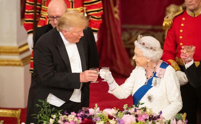 Nazdravila sta ameriško-britanskemu prijateljstvu. Foto Guliver/getty Images