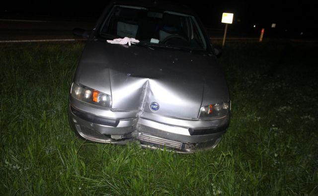 Avtomobil nevarnega voznika. FOTO: PU Kranj