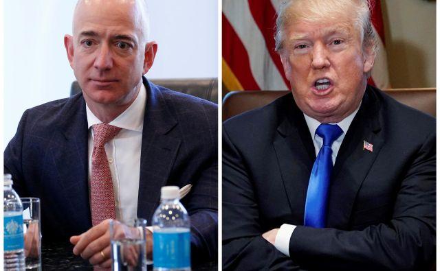 Jeff Bezos je pred šestimi leti kupil <em>Washington Post</em>, časnik, katerega stališča so vse prej kot naklonjena Trumpovi politiki. FOTO: Reuters
