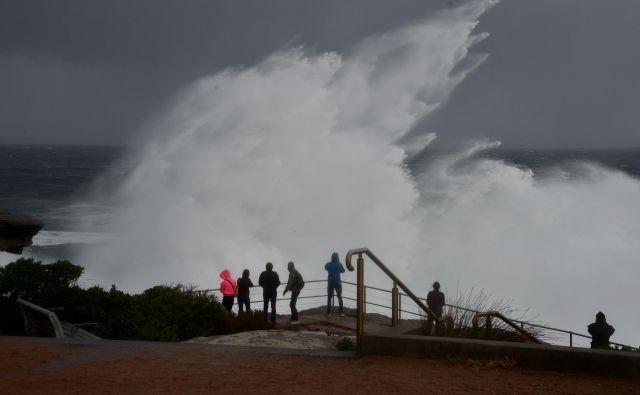 Zaradi slabih vremenskih razmer so ustavili tudi trajekte. FOTO: AFP