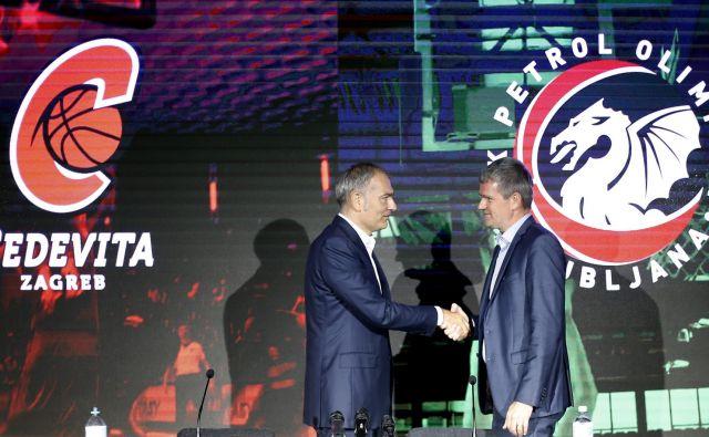 Emil Tedeschi (levo) in Tomaž Berločnik bosta začela pisati nova poglavja košarke v Ljubljani. FOTO: Blaž Samec