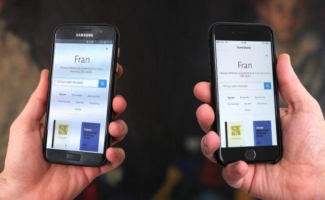 Fran odslej deluje na operacijskih sistemih ios in android. FOTO: Marko Zaplatil/ZRC SAZU