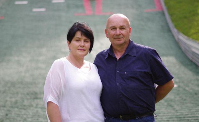 Anita in Polde Roglič FOTO: Grega Kališnik