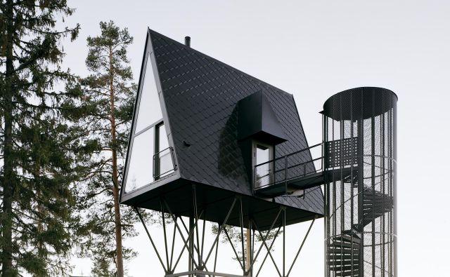 Sodobne hiške na drevesih. FOTO: Rasmus Norlander