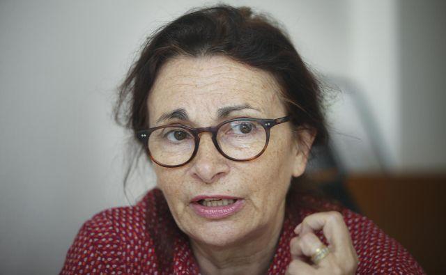 Anne Muxel je pred nedavnim v Ljubljani nastopila na predavanju Biti star 20 let v politiki. Nove percepcije, nove rabe, nova pričakovanja.Foto: Jože Suhadolnik