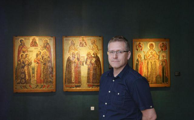 Kustos, zgodovinar in scenarist stripov Blaž Vurnik. FOTO: Jože Suhadolnik