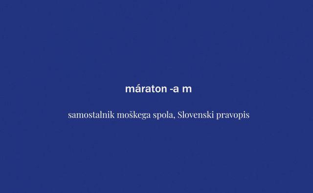 Beseda tedna: maraton