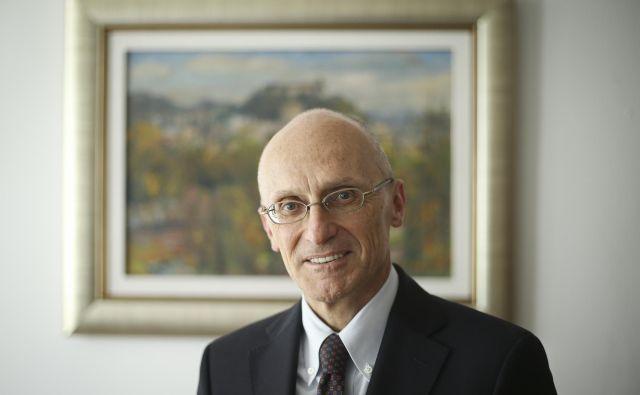 Predsednik nadzornega odbora Evropske centralne banke Andrea Enria. Foto Jože Suhadolnik