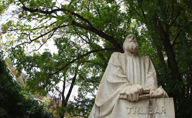 Trubar, rojen leta 1508 na Rašici, velja za eno osrednjih osebnosti slovenske kulturne in tudi siceršnje zgodovine. FOTO: Matej Družnik/Delo