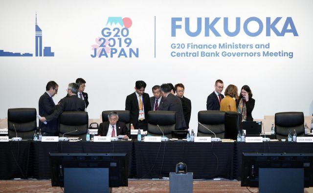 Članice G20 so na dvodnevnem srečanju na zahodu Japonske razpravljale tudi o težavnem vprašanju obdavčevanja internetnih velikanov in prvič doslej tudi o gospodarskih izzivih, ki jih predstavlja staranje prebivalstva. FOTO: Reuters