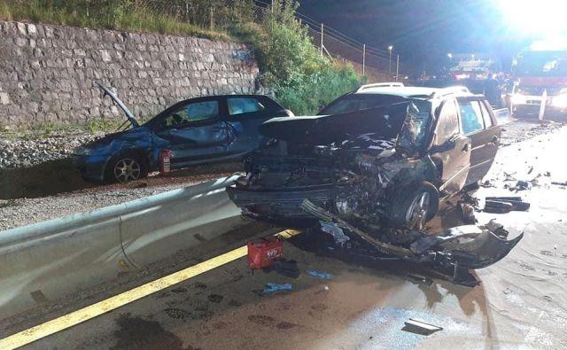 Posledice prometne nesreče. FOTO: PGD Materija