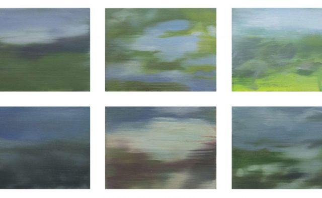 Značilnost slikarskih del Nike Zupančič je videz minevanja in mimobežnosti podob iz narave. Foto arhiv Bežigrajske galerije 2