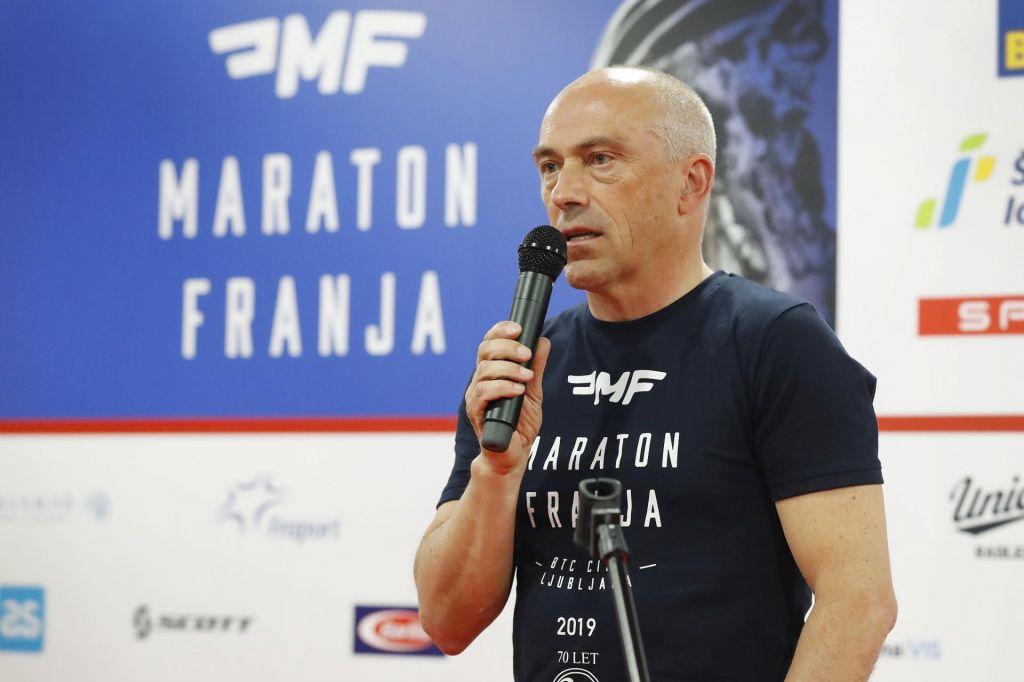 FOTO:Gorazd Penko že v stalni pripravljenosti za 40. maraton