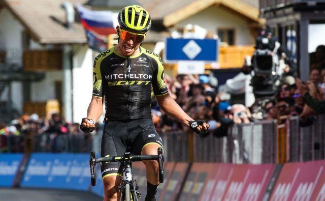 Esteban Chaves je 31. maja zmagal na etapi Gira. FOTO: AFP