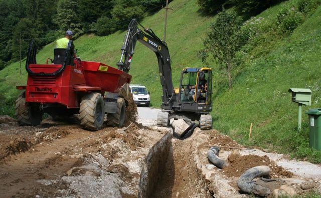 Gradnja vodovoda je skoraj končana. Položili so 112 kilometrov vodovodnih cevi. Foto Mateja Kotnik