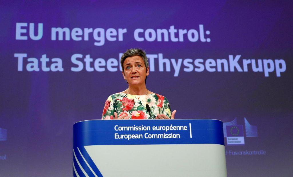 Bruselj tudi uradno zavrnil združitev jeklarjev
