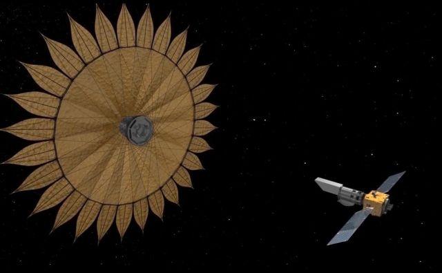 Ideja velikega senčnika ni nova, a je problematična, saj mora biti poravnava izjemno natančna. FOTO: NASA/JPL-Caltech