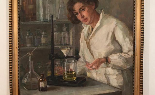 Ana Mayer Kansky, kot jo je na sliki z naslovom <em>Kemičarka</em> upodobila Henrika Šantel. Slika je prav zdaj na ogled v Moderni galeriji. FOTO: Sašo Dolenc