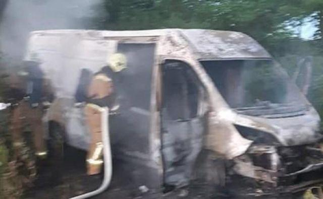 Požar na kombiju. FOTO: PGD Gornja Radgona