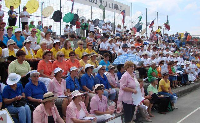 Jubilejnega pevskega tabora se bo udeležilo prek 2000 pevk in pevcev. FOTO: Bojan Rajšek/Delo