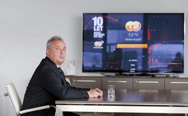 »Gre za poslovne odločitve, za katere ne potrebujemo soglasja katerega koli upnika,« o nakupnem pohodu pravijo v T-2. Prokurist in prek Garnola lastnik telekomunikacijske družbe je Jurij Krč. Foto Matej Družnik