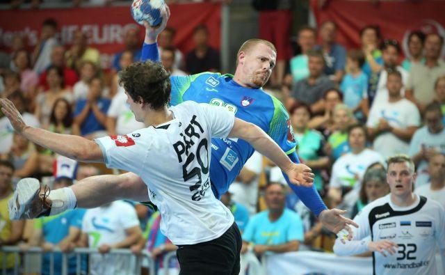 Matej Gaber je bil najboljši strelec Slovenije proti Estoniji. Dosegel je sedem golov. FOTO: Jure Eržen/Delo