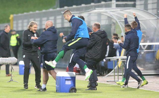 Nogometaši Olimpije so se poslovili od prejšnje sezone z zmago nad Mariborom v Celju, 19 dni zatem bodo izvedeli za ime naslednjega velikega izziva. FOTO: Tadej Regent