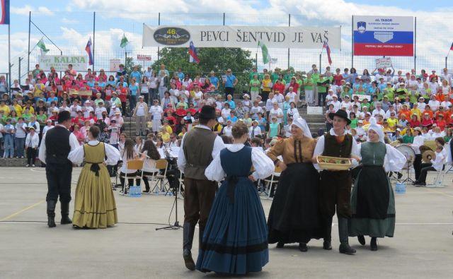 Tabor slovenskih pevskih zborov. Foto Bojan Rajšek