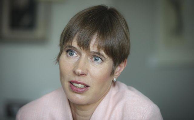 Estonska predsednica Kersti Kaljulaid se je v Ljubljani nedavno udeležila vrha Pobude treh morij. FOTO: Jože Suhadolnik