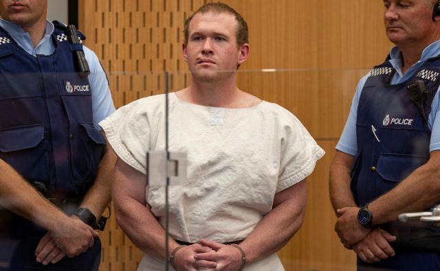 Brenton Tarrant je obtožen 51 umorov, 40 poskusov umorov in terorističnega dejanja FOTO: Reuters