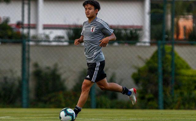 Takefusa Kubo velja za čudežnega dečka japonskega nogometa. FOTO: AFP