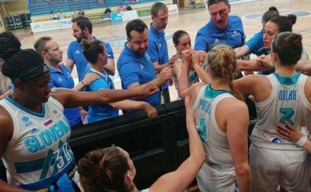 Slovenska reprezentanca je na tekmi s Slovaško zmagala z visoko prednostjo. FOTO: KZS
