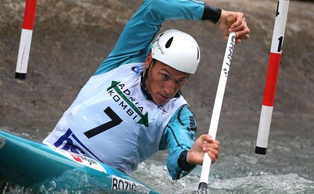 Luka Božič je bil s 4. mestom najboljši med slovenskimi kanuisti na uvodni tekmi svetovnega pokala v slalomu na divjih vodah. FOTO: Tomi Lombar/Delo
