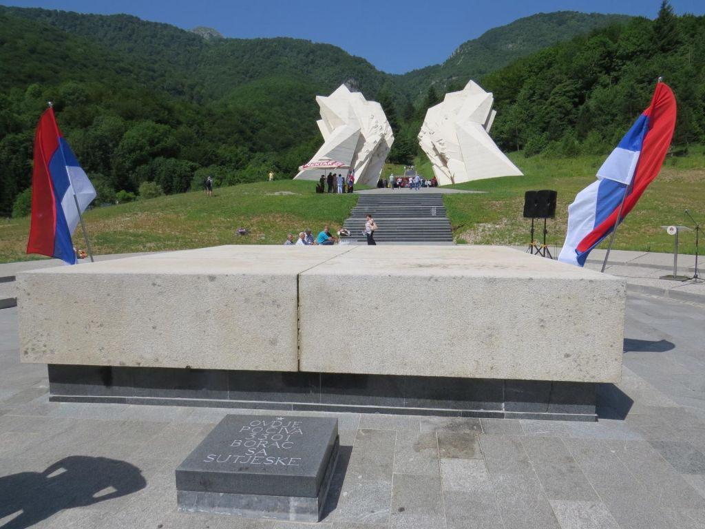 FOTO:Srbski minister na Sutjeski poveličeval Srbe in njihov boj