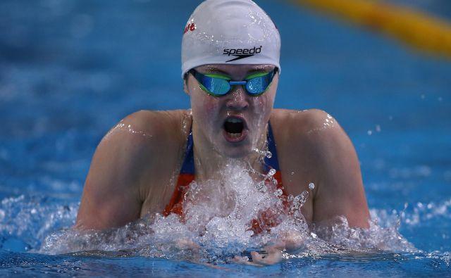 Katja Fain je blestela v kranjskem bazenu. FOTO: Tomi Lombar/Delo