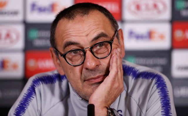 Maurizo Sarri se vrača v Italijo, tokrat bo sedel na klop Juventusa. FOTO: Reuters