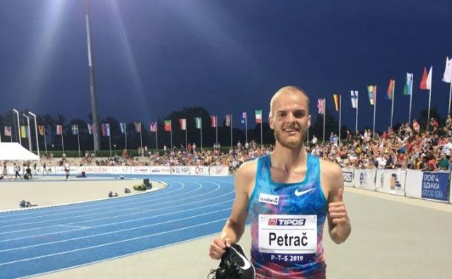 Petrač je za 24 stotink sekunde izboljšal rekord, ki ga je skoraj 27 let držal Rafko Marinič. FOTO: osebni arhiv Jana Petrača