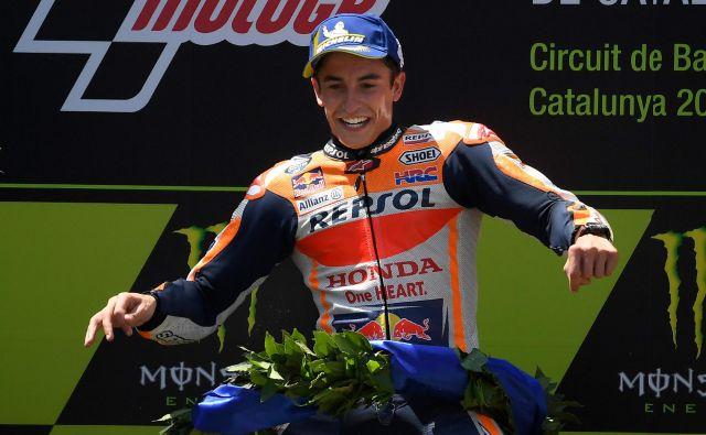 Slavje Marca Marqueza v Barceloni. FOTO: AFP
