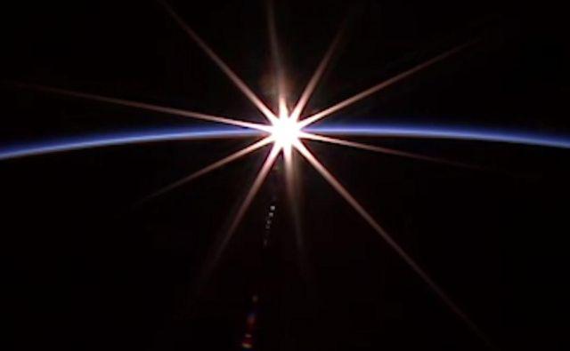 Sončni zahod FOTO: Nasa