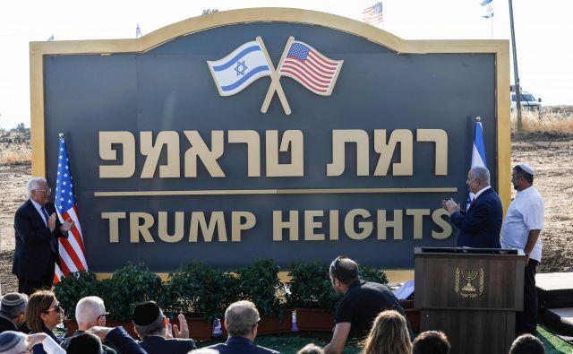 V čast Donaldu Trumpu so poimenovali izraelsko vas. FOTO: AFP