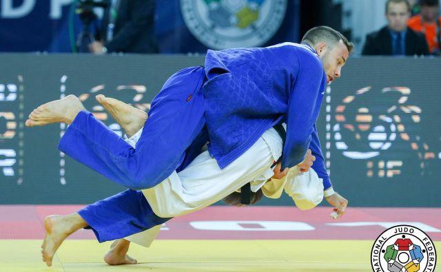 Adrian Gomboc (v modrem kimonu) je na pripravah res garal in šel celo prek sebe. FOTO: Marina Mayorova/IJF