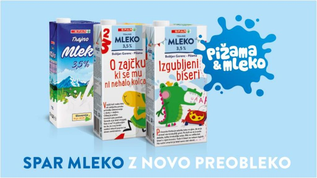 Spar Mleko z novo pravljično preobleko