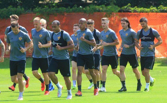 Mariborski nogometaši se že pripravljajo na evropske preizkušnje. FOTO: Tadej Regent/Delo