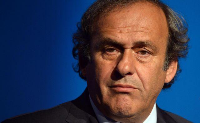 Platini je leta 2007 postal prvi nekdanji igralec, ki je bil izvoljen na mesto predsednika Uefe. FOTO: Alberto Pizzoli/AFP
