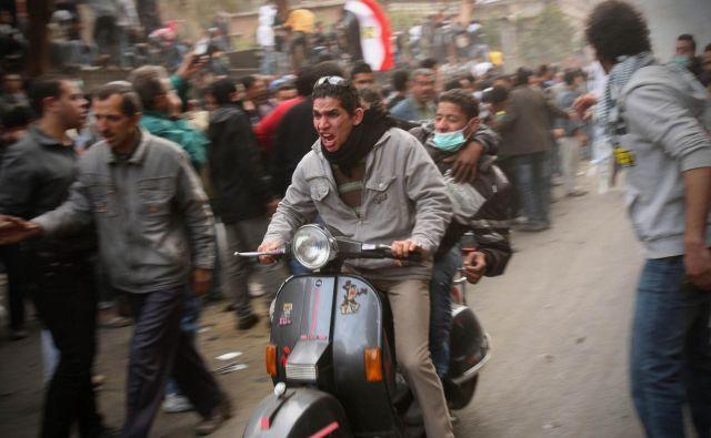 Trg Tahrir ob prvi obletnici revolucije. FOTO: Jure Eržen/Delo
