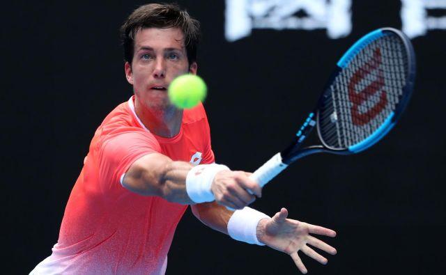 Aljaž Bedene je dosegel prvo zmago v glavnem žrebu turnirja ATP po aprilu. FOTO: Reuters