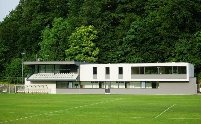 Novi pomožni objket na nogometnem igrišču Skalna klet v Celju. FOTO: Brane Piano