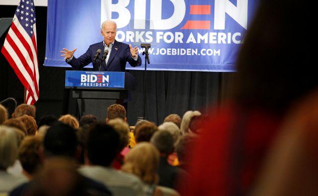 Trenutno najverjetnejši demokratski protikandidat Donaldu Trumpu Joe Biden je že v polnem zagonu. FOTO: Reuters
