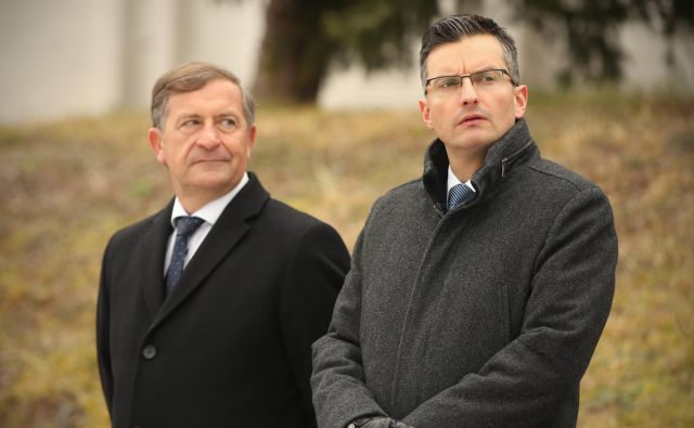 Na vprašanje o zaupanju, Marjan Šarec pravi, da bo moral Karl Erjavec za svoj obstanek prepričati državni zbor. FOTO: Jure Eržen/Delo